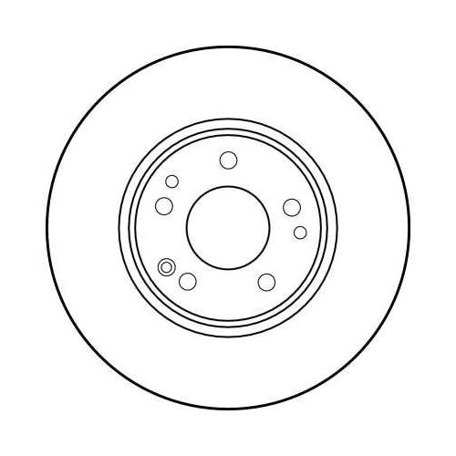 Brake Disc TRW DF1594 MERCEDES-BENZ