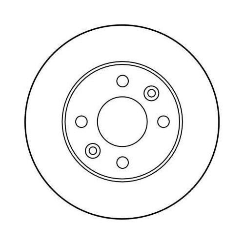 Brake Disc TRW DF1013 RENAULT DACIA
