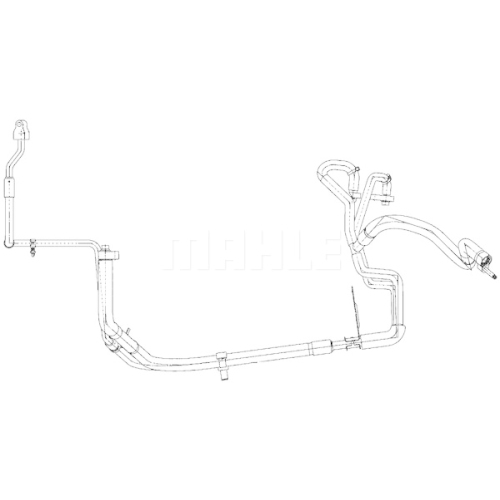 High-/Low Pressure Line, air conditioning MAHLE AP 113 000P FORD