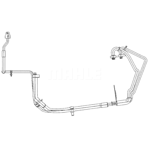 High-/Low Pressure Line, air conditioning MAHLE AP 109 000P FORD