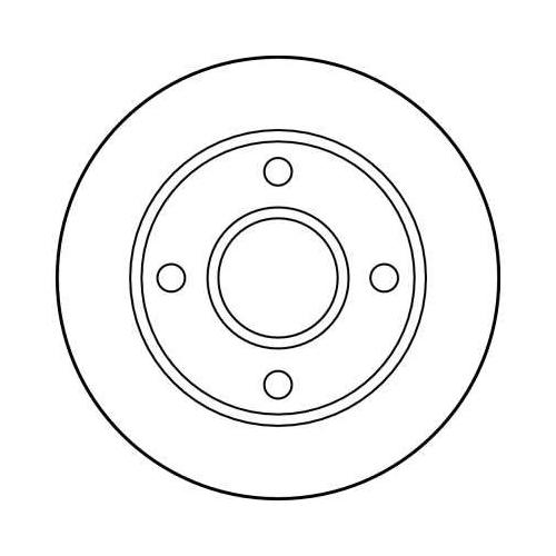 Brake Disc TRW DF2752 FORD MAZDA