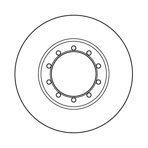 Brake Disc TRW DF6049 FORD
