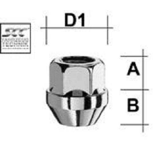 SCC Fahrzeugtechnik WHEEL BOLT M14X1.5. Articel nr.: M1415KEO22