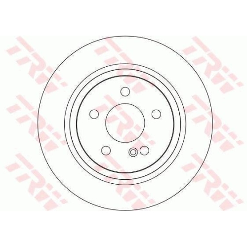 Brake Disc TRW DF4263 MERCEDES-BENZ MERCEDES-BENZ (BBDC)