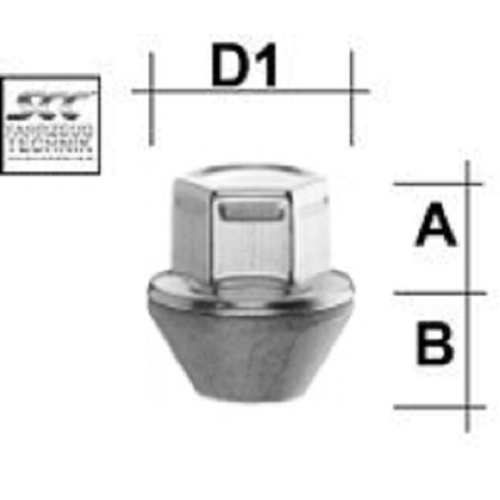 SCC Fahrzeugtechnik WHEEL BOLT M12X1.5. Articel nr.: M1215KEGNF
