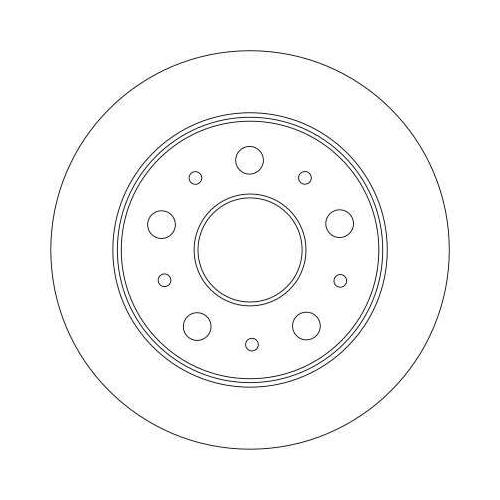 TRW Brake Disc DF4245