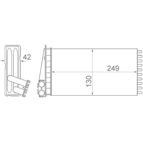 Heat Exchanger, interior heating MAHLE AH 186 000P BEHR *** PREMIUM LINE ***