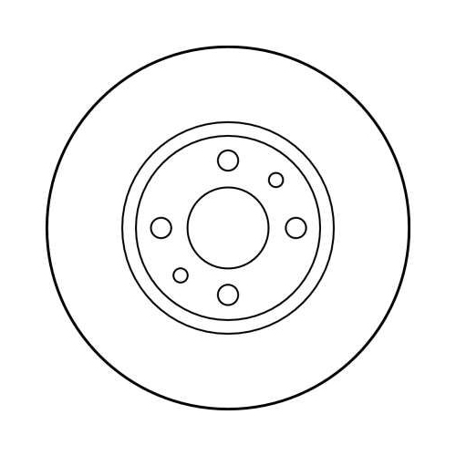 Brake Disc TRW DF1790 ALFA ROMEO CHRYSLER FIAT LANCIA