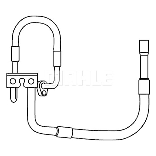 High-/Low Pressure Line, air conditioning MAHLE AP 78 000P FORD