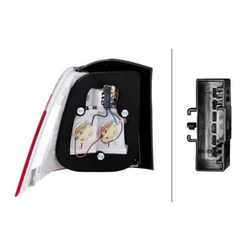 Combination Rearlight HELLA 2VA 009 426-121 BMW