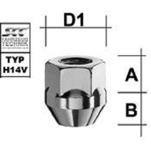 SCC Fahrzeugtechnik WHEEL BOLT M12X1.5. Articel nr.: M1215KEOE