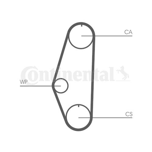 Timing Belt CONTINENTAL CTAM CT629 VW