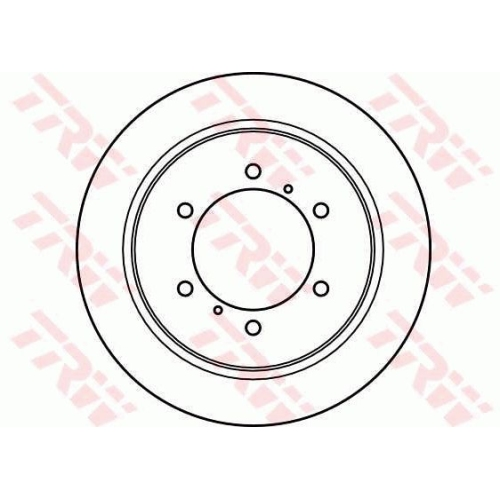Brake Disc TRW DF4075 MITSUBISHI