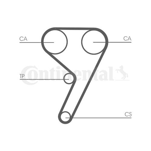 Timing Belt CONTINENTAL CTAM CT881 FORD MAZDA VOLVO