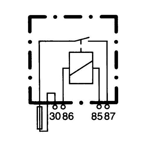 Relay, main current HELLA 4RA 003 530-001 AEBI MITSUBISHI FENDT JOHN DEERE LINDE