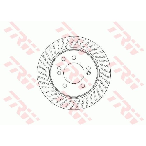 Brake Disc TRW DF6710 SSANGYONG