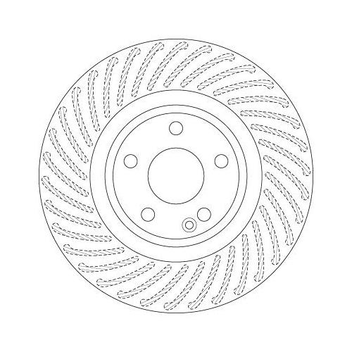 Brake Disc TRW DF6631 MERCEDES-BENZ