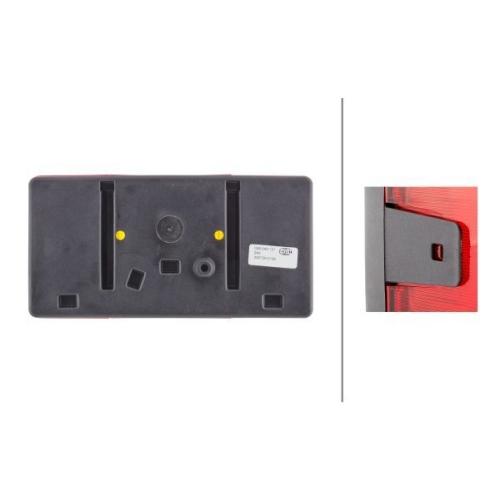 Combination Rearlight HELLA 2VP 006 040-121 AEBI AUDI DAF VOLVO VW FAUN BOMAG