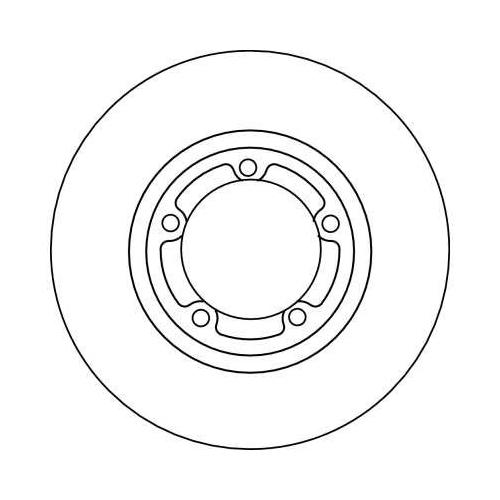 Brake Disc TRW DF4102 MITSUBISHI HYUNDAI FENGXING