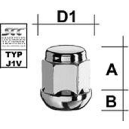SCC Fahrzeugtechnik WHEEL BOLT M12X1.5. Articel nr.: M1215KUGZ