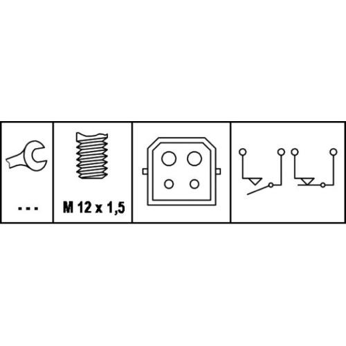 HELLA Brake Light Switch 6DD 008 622-351