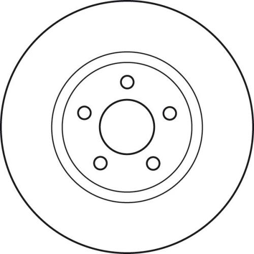 Brake Disc TRW DF4874S CHRYSLER DODGE