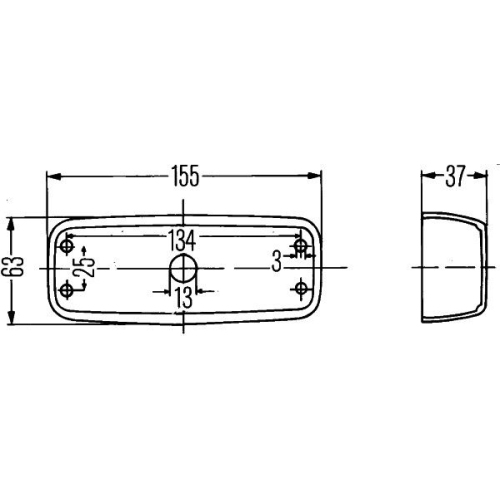 Combination Rearlight HELLA 2SD 001 305-021 FORD MERCEDES-BENZ OPEL FAUN CASE IH