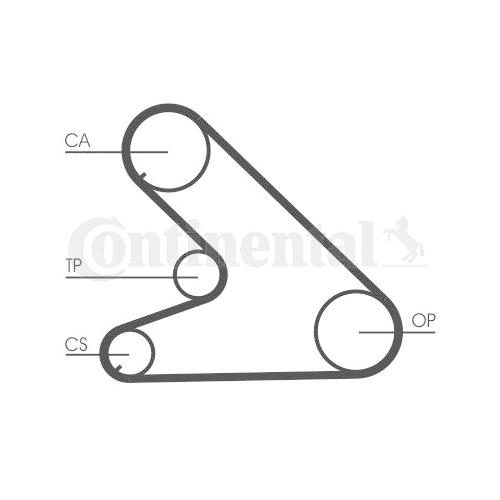 Timing Belt CONTINENTAL CTAM CT700 CITROËN FIAT PEUGEOT