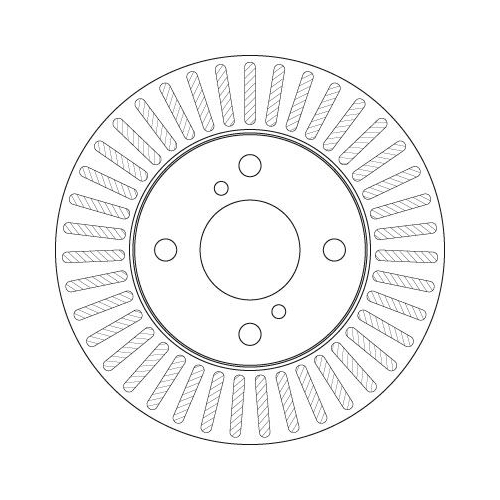 Brake Disc TRW DF6214 NISSAN SUZUKI
