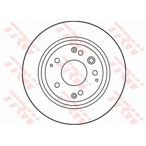 Brake Disc TRW DF4005 HONDA ACURA