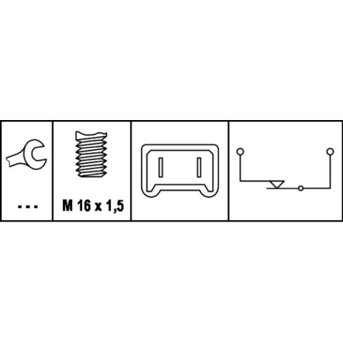 HELLA Brake Light Switch 6DD 008 622-081