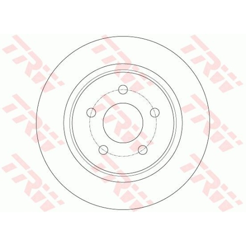 Brake Disc TRW DF6150 FORD