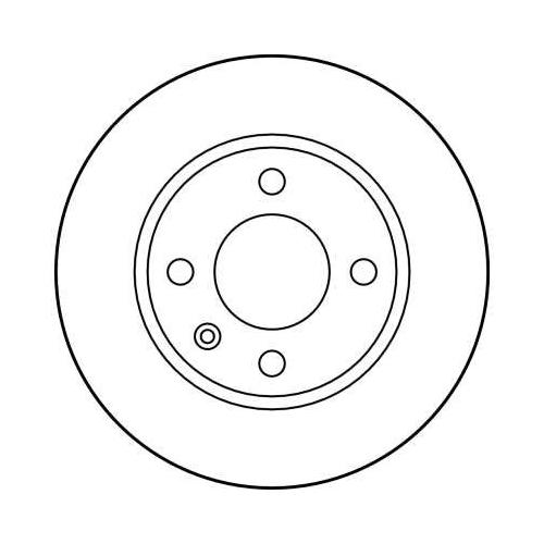 Brake Disc TRW DF2765 SKODA VW