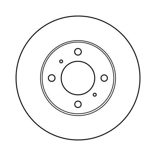 Brake Disc TRW DF4022 MITSUBISHI PROTON