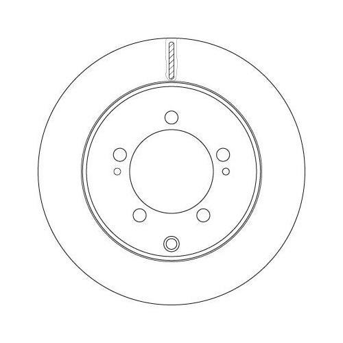 Brake Disc TRW DF6274 MITSUBISHI