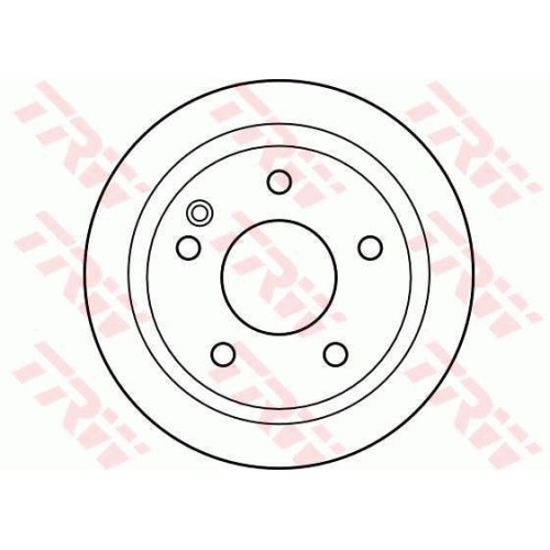 Brake Disc TRW DF4224 MERCEDES-BENZ