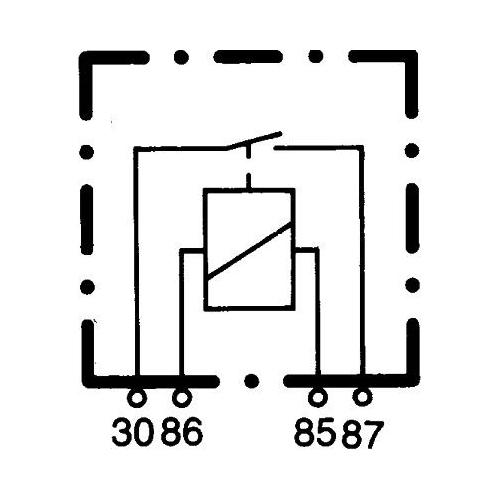 Relay, main current HELLA 4RA 003 437-081 AEBI DAF CASE IH CLAAS FENDT HYSTER