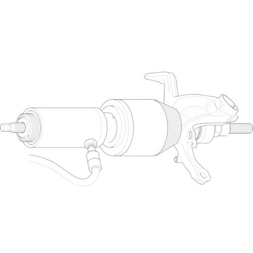 Adapter, mounting device (wheel hub/wheel bearing) GEDORE KL-0039-1505