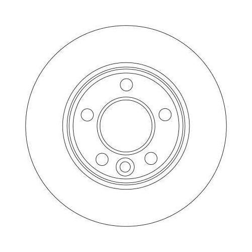 Brake Disc TRW DF4312 VW