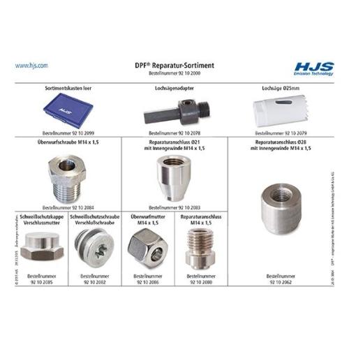 Einschweißgewinde, Abgastemperatursensor HJS 92 10 2000 Sortiment ALFA ROMEO BMW