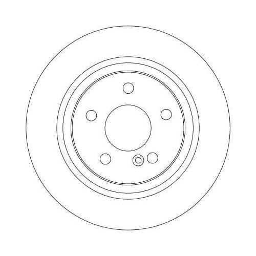 Brake Disc TRW DF4270 MERCEDES-BENZ