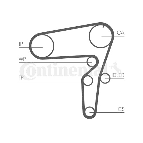 Timing Belt CONTINENTAL CTAM CT1105 ALFA ROMEO FIAT LANCIA OPEL SAAB VAUXHALL