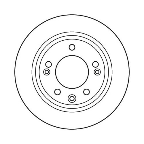 Brake Disc TRW DF6123 HYUNDAI KIA