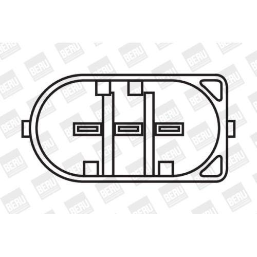 Zündspule BorgWarner (BERU) ZS053 MERCEDES-BENZ