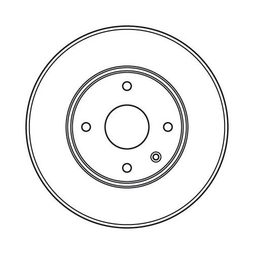 Brake Disc TRW DF6031 CHEVROLET DAEWOO