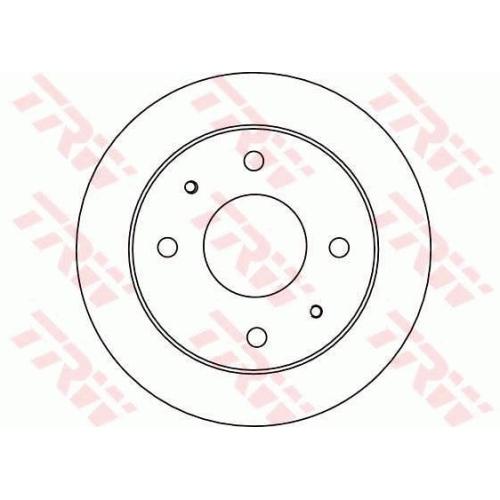 Brake Disc TRW DF4132 HYUNDAI