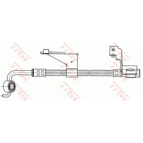 Brake Hose TRW PHD364 FORD