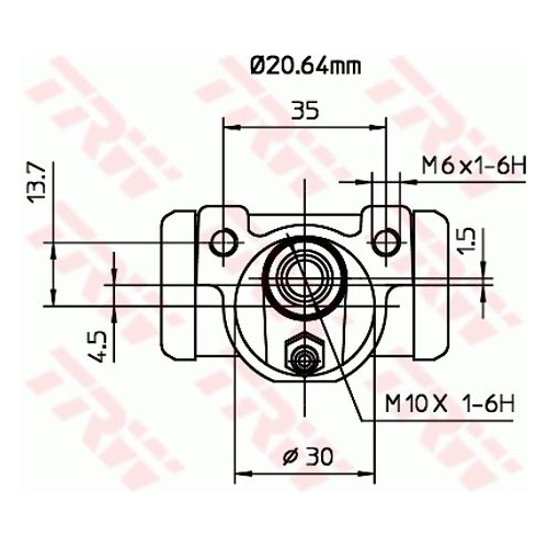 Wheel Brake Cylinder TRW BWF262 FIAT LANCIA
