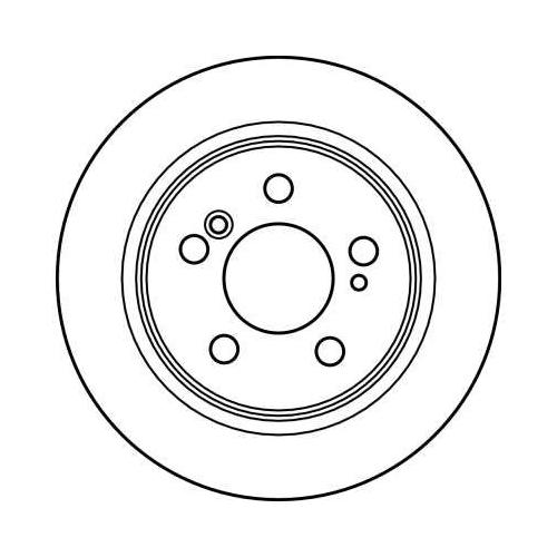 Brake Disc TRW DF2563 MERCEDES-BENZ