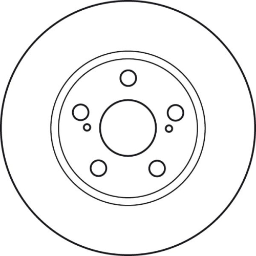 Brake Disc TRW DF4906 TOYOTA